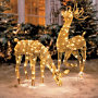 Gold Mesh Lighted Reindeer
