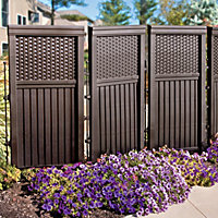 Woven Resin Outdoor Privacy Screen