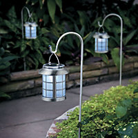 Solar Window Pane Lantern Decorative Outdoor Yard Lights