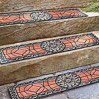 Gothic Iron Outdoor Rubber Stair Treads