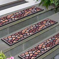 Pompeii Stones  Outdoor Rubber Stair Treads