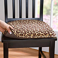 Leopard Print Kitchen Chair Pads