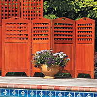4-Panel Screen Garbage Can Lattice