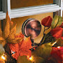 Glass Window Wreath Holder