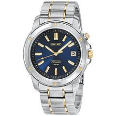 Seiko® Mens Perpetual Calendar Two-Tone Watch SNQ010