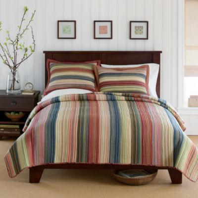 jewel retro chic cotton striped quilt u0026 accessories