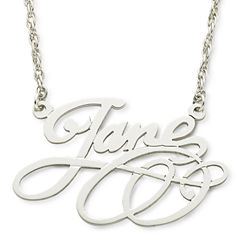 Personalized Sterling Silver Scroll Name Necklace