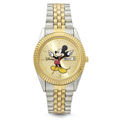 Disney Mens Mickey Mouse Bracelet Watch