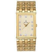 Bulova® Mens 12-Diamond Watch 97F52