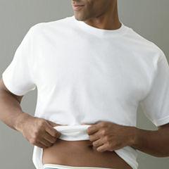 Stafford® 4-pk. Cotton Crewneck T-Shirts–Big & Tall