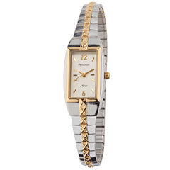 Armitron® Womens Rectangle Expansion Band Watch