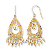 Drop Earrings, 10K Gold