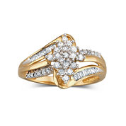 Diamond Cluster Ring 1/3 CT. T.W. 10K Gold
