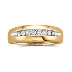 Mens 1/4 CT. T.W. Diamond Ring 10K