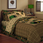 John Deere® Tractor and Plaid Bedskirt