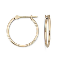 10K Gold 18mm Hoop Earrings
