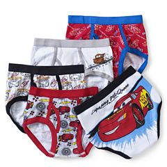 5 Pair Cars Briefs-Big Kid Boys