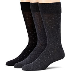 Stafford® 3-pk. Cotton-Rich Crew Socks