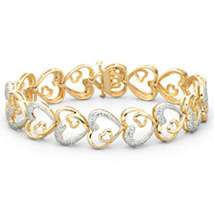 1/10 CT. T.W. Diamond Heart Bracelet
