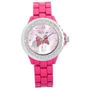 Disney Pink Enamel Crystal Accent Minnie Watch