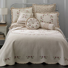 Home Expressions™ Lynette Embroidered Bedspread & Accessories