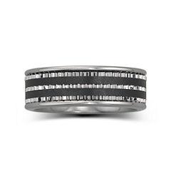 Men's 7.5mm Stainless Steel & Ceramic Band