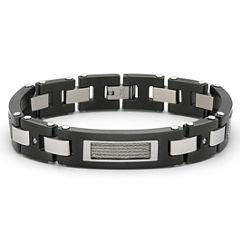 Men's Diamond-Accent Bracelet Stainless