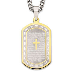 Spanish Lord's Prayer Dog Tag Stainless Steel