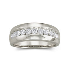 Mens 1 CT. T.W. Diamond Band 10K White Gold