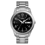 Timex® Mens Stainless Steel Dress Watch