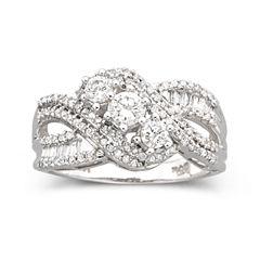 Love Lives Forever™ 3/4 CT. T.W. Diamond 10K White Gold 3-Stone Ring