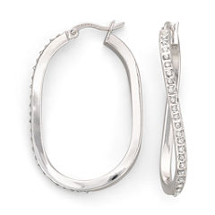 Diamond Fascination™ Wave Hoop Earrings