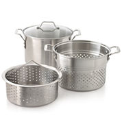 Simply Calphalon® 3-pc. 8-qt. Stainless Steel Multi Pot Set