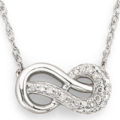 Infinite Promise 1/10 CT. T.W.Diamond Sterling Silver Infinity Necklace