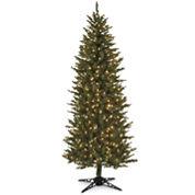 7' Pre-Lit Slim Spruce Christmas Tree