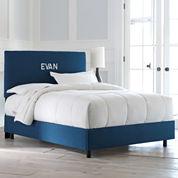 Evan Upholstered Monogrammed Headboard or Bed