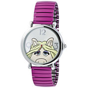 Muppets Miss Piggy Pink Expansion Band Watch
