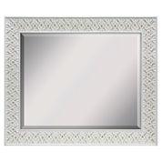 White Wash Beveled Wall Mirror