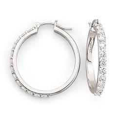 DiamonArt® Cubic Zirconia Hoop Earrings