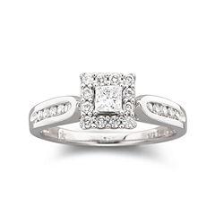 ½ CT. T.W. Diamond Engagement Ring