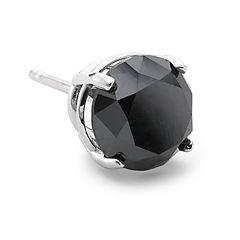 1½ CT. T.W. Color-Enhanced Black Diamond Single Stud Earring