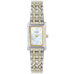 Citizen® Womens Two-Tone Watch EK1124-54D