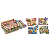 Melissa & Doug® Animals Mini-Puzzle Pack