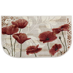 Poppy Heaven Washable Wedge Rug