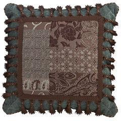 Croscill Classics® Catalina Brown Square Tassel Decorative Pillow