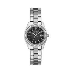 Caravelle New York Womens Silver Tone Bracelet Watch-43m113