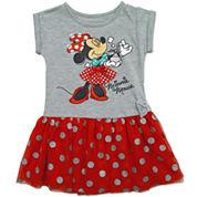 Disney By Okie Dokie Short Sleeve Mickey Mouse Tutu Dress - Preschool