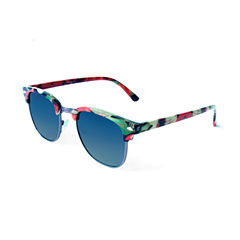 Tropical Retro Rectangle Sunglasses