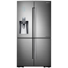 Samsung ENERGY STAR® Chef Collection 24 cu. ft. 4-Door Flex™ Counter Depth French Door with Sparkling Water Dispenser