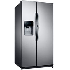 Samsung ENERGY STAR® 24.7 cu. ft. Side-by-Side Refrigerator With Food Showcase Design